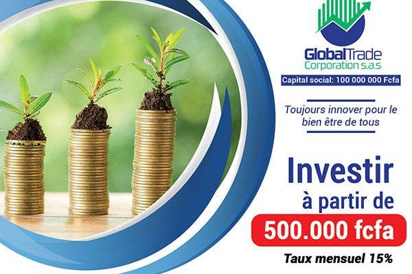 Investir à partir de 500.000 fcfa